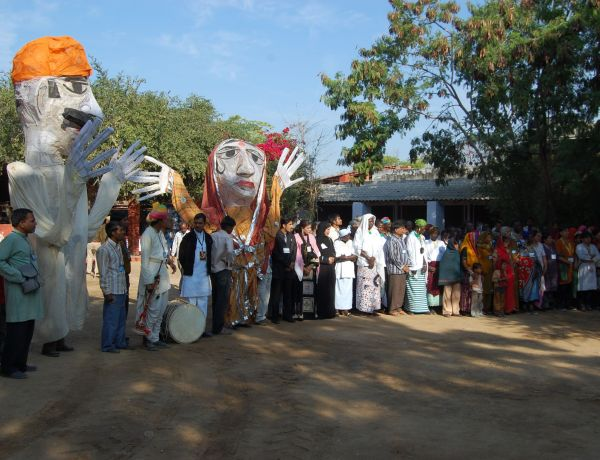 Creating Global Awareness: 200 puppet and street  shows on water and sanitation themes 200 villages reaching  to  200000 people  in a year